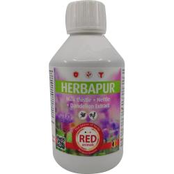 Herbapur, extraits de chardon-marie, pissenlit et ortie
