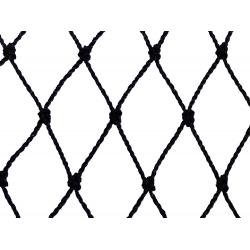 Filet de volière - Filets noués noirs en polyéthylène maille 4 cm largeur 11.5 m