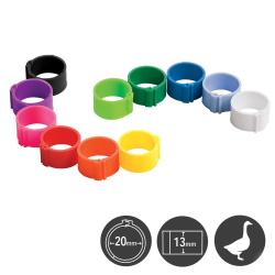 Bagues à clip en plastique 20 mm (lot de 25)