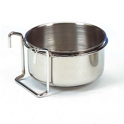 Mangeoire inox à crochets - 9.5 cm - 0.30 l
