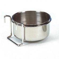Mangeoire inox à crochets - 12 cm - 0.60 l