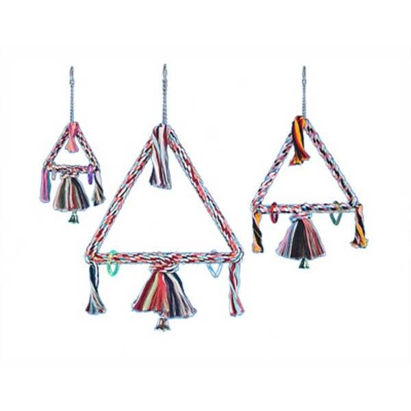 Balançoire Triangulaire + cloche - 15 cm x 41 cm