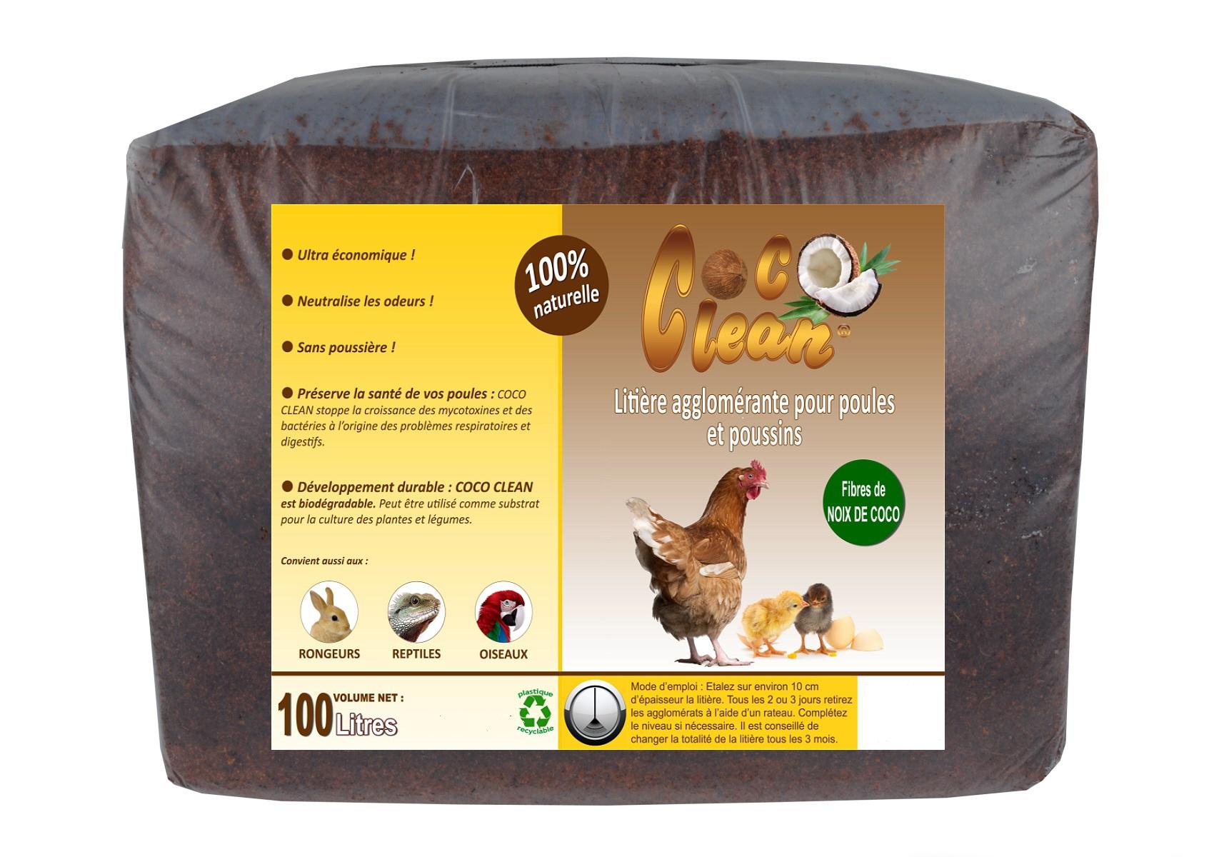 Litière agglomérante coco clean - 2 kg