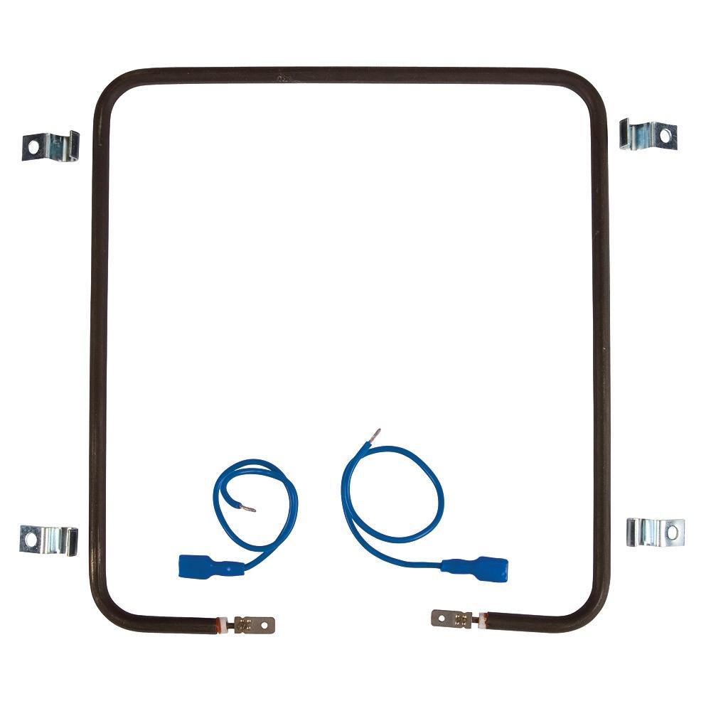 Résistance chauffante carrée en inox - 250 watts