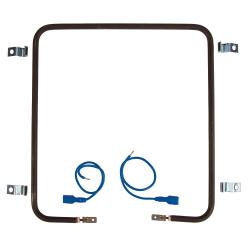 Résistance chauffante carrée en inox - 150 watts
