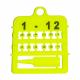 Bagues ouvertes numérotées en plastique - 2,5 mm