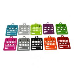 Bagues ouvertes numérotées en plastique - 4 mm