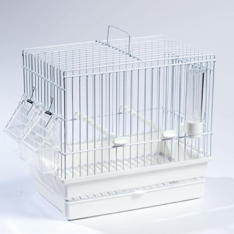 Cage Cardellina Blanche avec tiroir et grille de fond