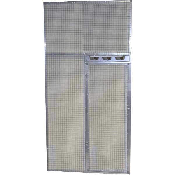Panneau porte en 25x25 avec plateau piv